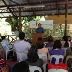 Pastor Nollie preaching